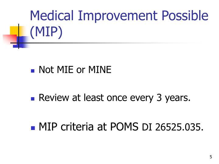 Medical Improvement Possible