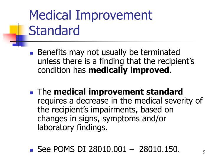 Medical Improvement Standard
