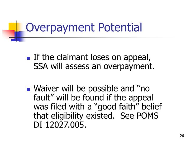Overpayment Potential