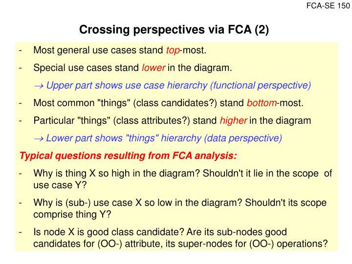 Crossing perspectives via FCA (2)