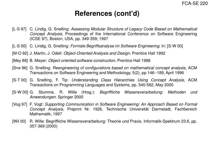 References (cont'd)