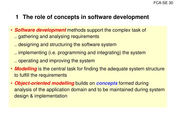 1The role of concepts in software development