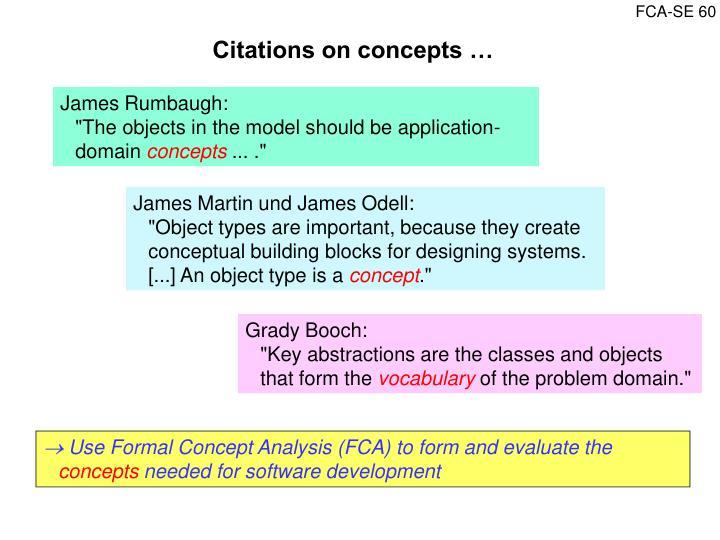 Citations on concepts …