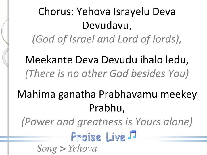Chorus: Yehova