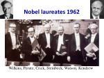 nobel laureates 1962