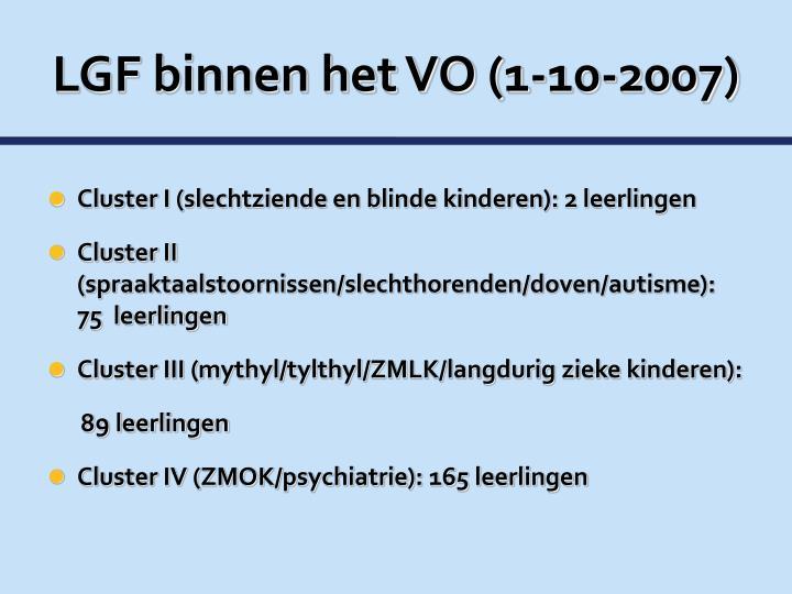 LGF binnen het VO (1-10-2007)