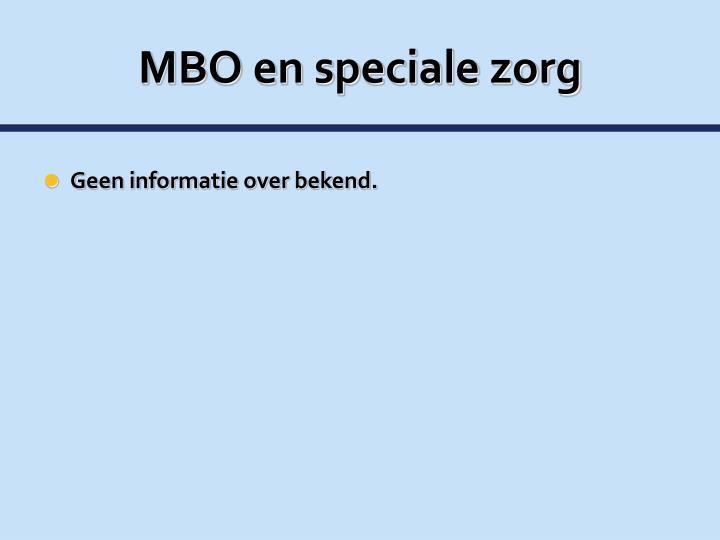 MBO en speciale zorg