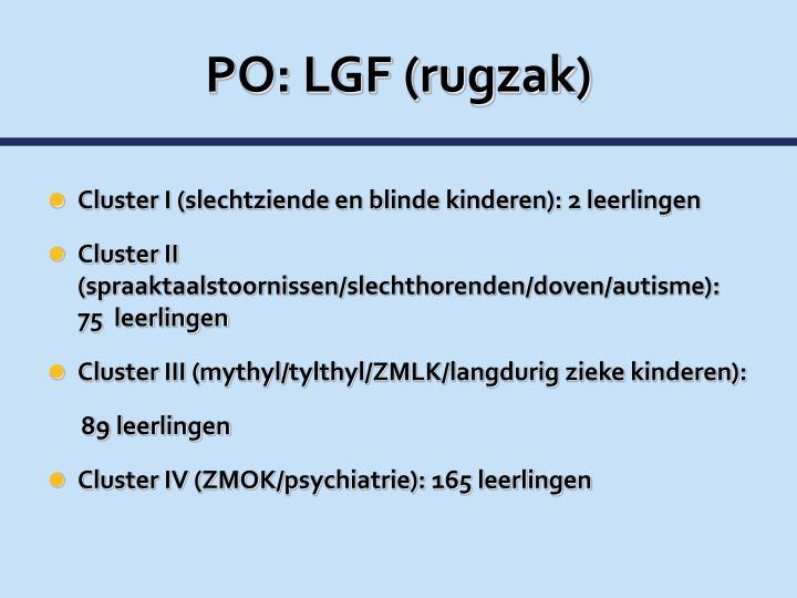PO: LGF (rugzak)