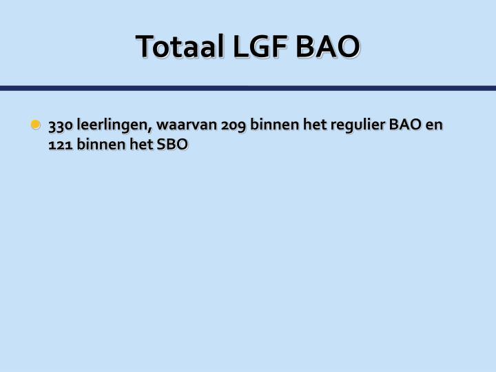 Totaal LGF BAO