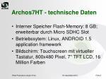 archos7ht technische daten