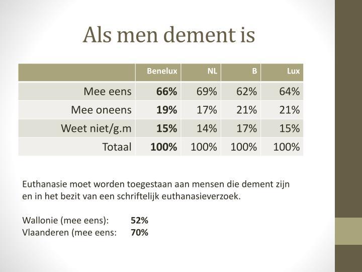 Als men dement is