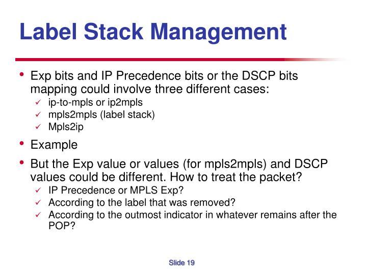 Label Stack Management