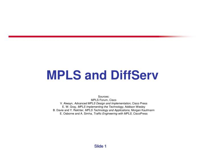 mpls and diffserv