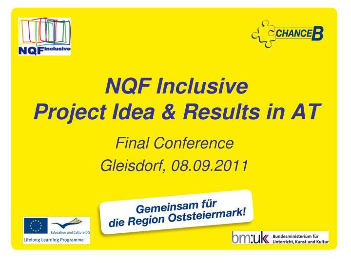 NQF Inclusive