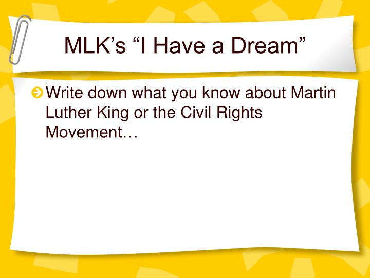 """MLK's """"I Have a Dream"""""""