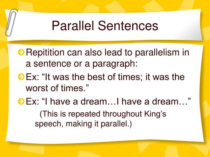 Parallel Sentences