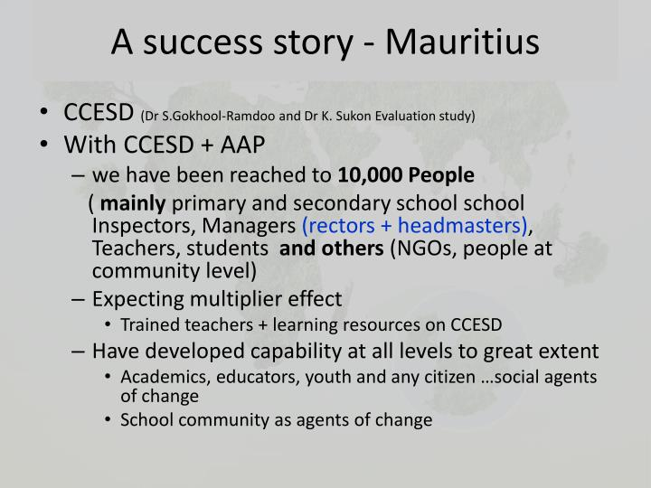 A success story - Mauritius