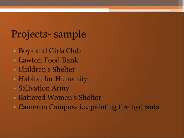 Projects- sample