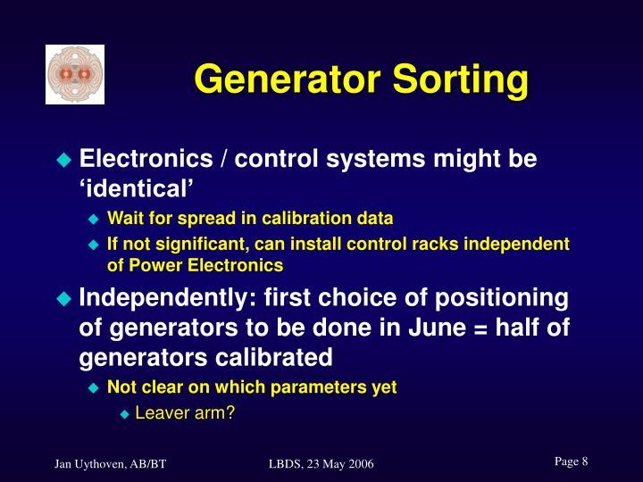 Generator Sorting