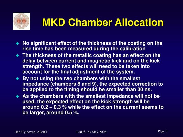 MKD Chamber Allocation