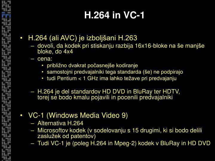 H.264 in VC-1