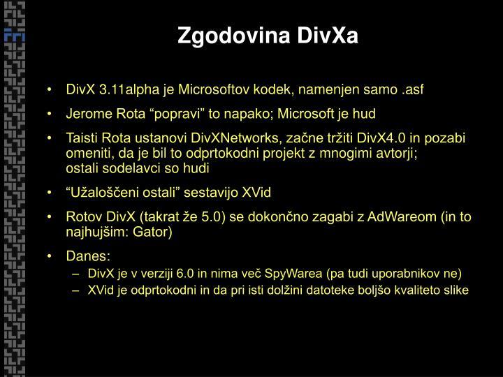 Zgodovina DivXa