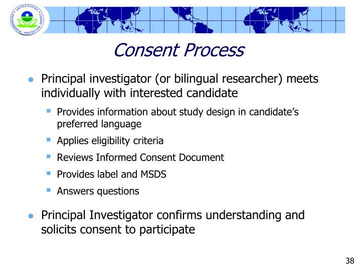 Consent Process