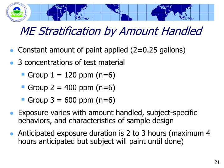 ME Stratification by Amount Handled