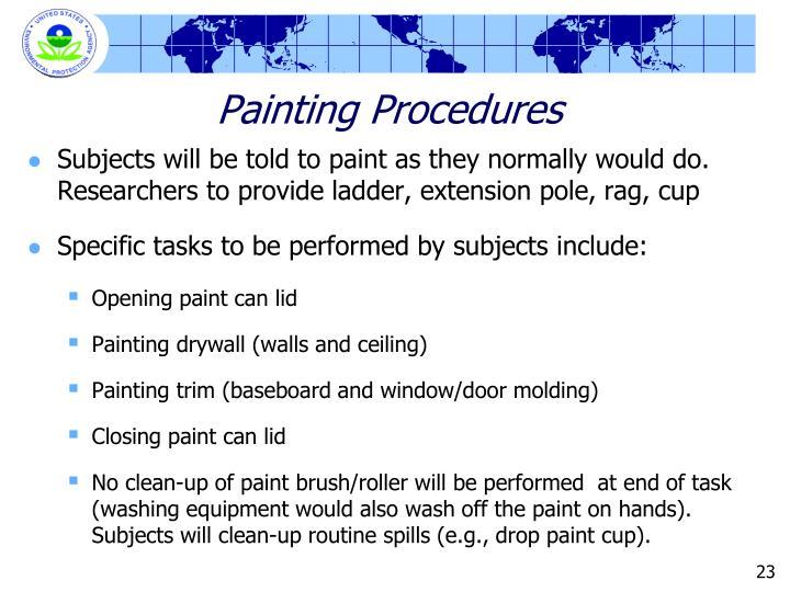 Painting Procedures