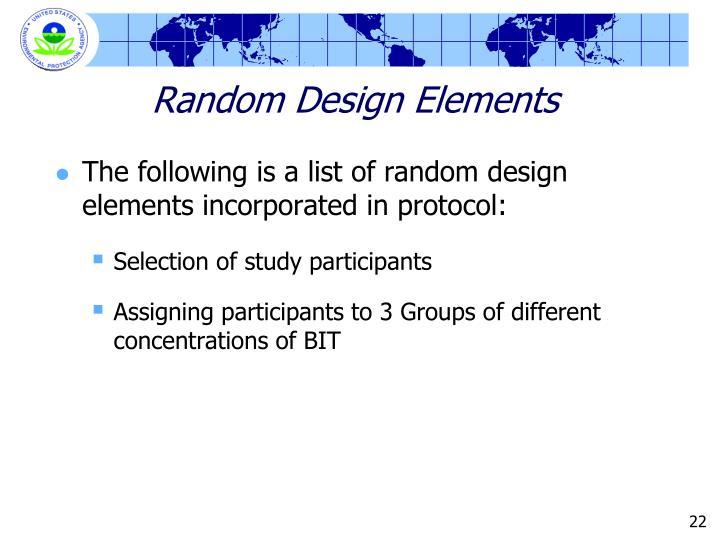 Random Design Elements