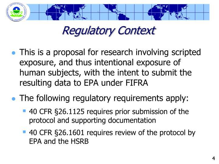 Regulatory Context