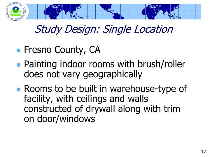 Study Design: Single Location