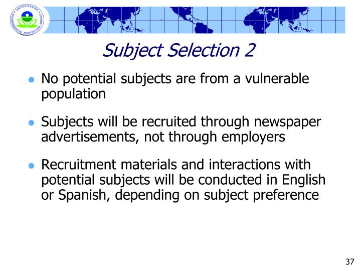 Subject Selection 2