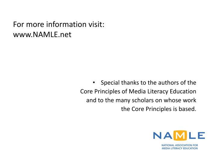 For more information visit: