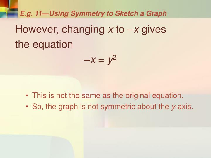 E.g. 11—Using Symmetry to Sketch a Graph