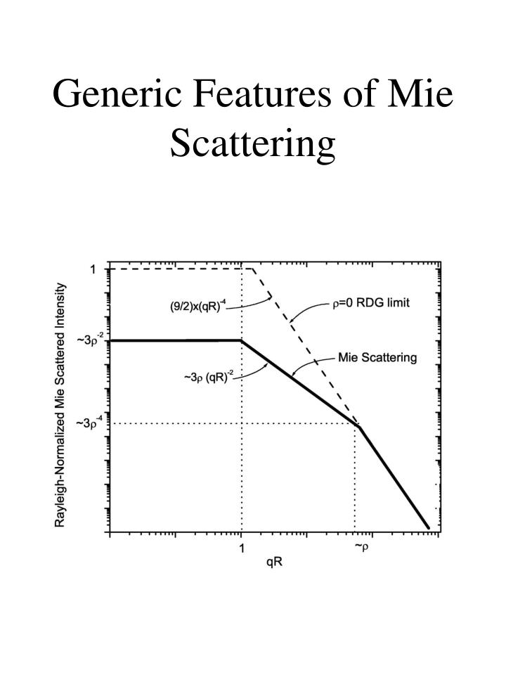 Generic Features of Mie Scattering