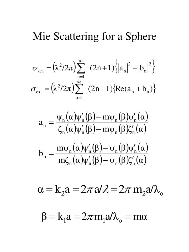 Mie Scattering for a Sphere
