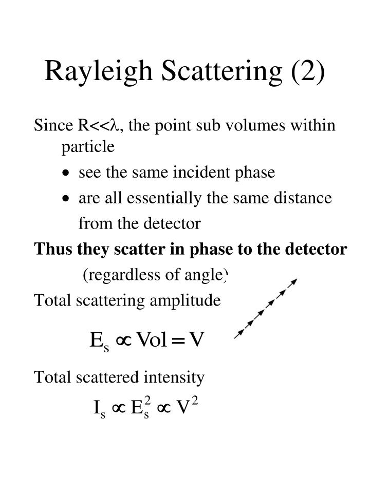 Rayleigh Scattering (2)