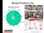 broad product line