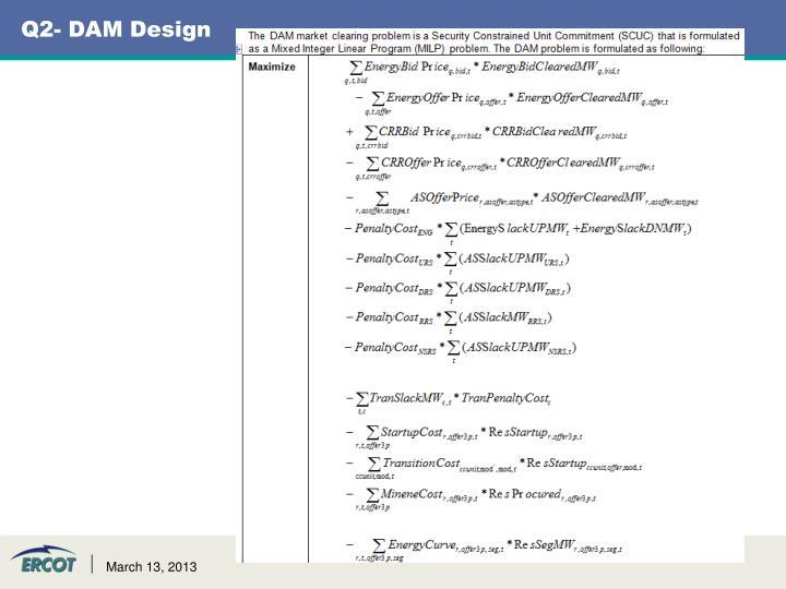 Q2- DAM Design