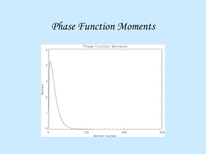 Phase Function Moments