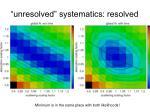 unresolved systematics resolved