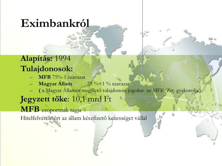 Eximbankról
