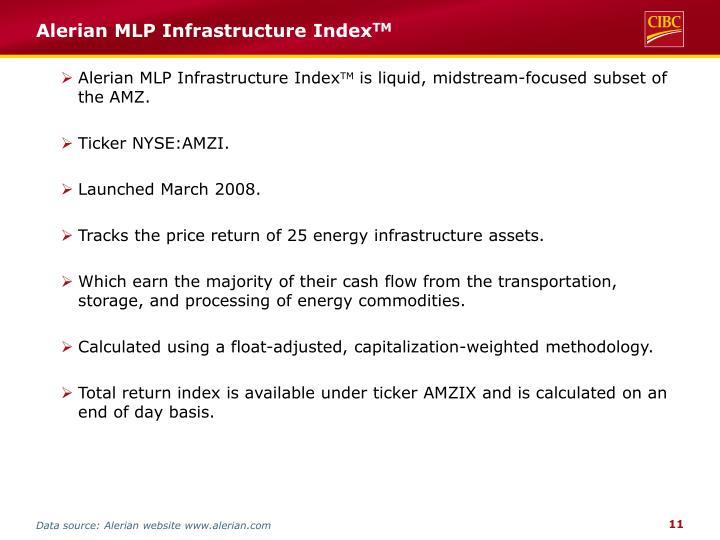 Alerian MLP Infrastructure Index