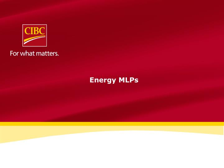Energy MLPs