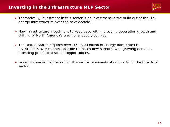 Investing in the Infrastructure MLP Sector