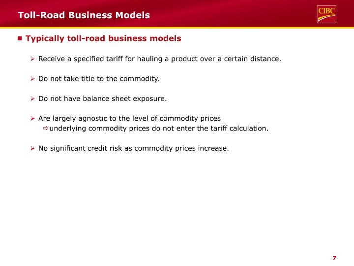 Toll-Road Business Models