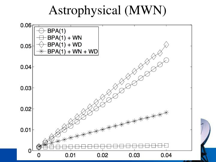 Astrophysical (MWN)