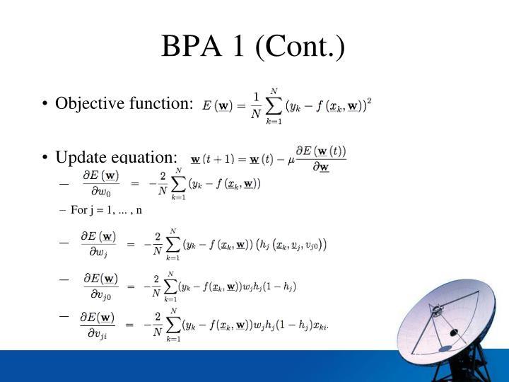 BPA 1 (Cont.)