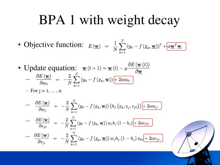 BPA 1 with weight decay